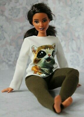 Blouse and Leggings for Dolls. №241 Clothes for Barbie Doll