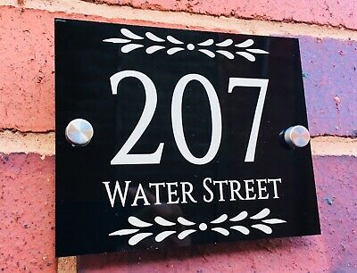 Classic House Sign Plaques Door Numbers 1 - 999 Personalised Name Plate