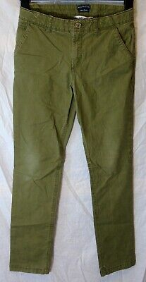 Boys H&M Khaki Green Denim Adjustable Waist Skinny Stretch Jeans Age 12-13 Years