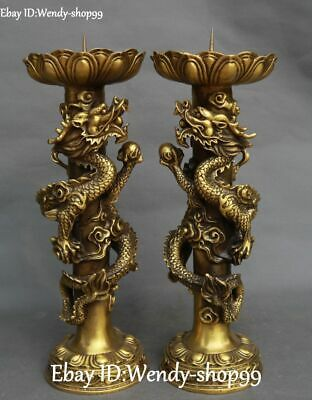 Chinese brass Animal 3 angel oil lamp Candle Holder Candlestick statue mk