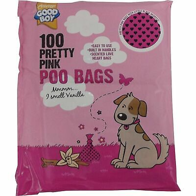 Armitage Good Boy Pretty Pink Dog Poo Bags - Pack of 100