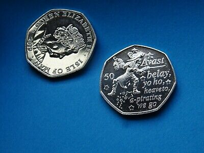 Peter Pan 2019 coin CAPTAIN HOOK 50 pence - Isle of Man NEW coin 50 p