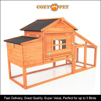 We do not ship to the Channel Islands. COZY PET Chicken Coop with Run in Natural Hen House Poultry Coup Rabbit Hutch Ark Nest Box CC11N