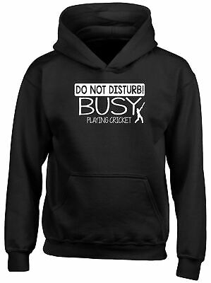 Do Not Disturb! Busy Playing Cricket Childrens Kids Hooded Top Hoodie Boys Girls