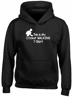This is my Cricket T-Shirt Childrens Kids Hooded Top Hoodie Boys Girls