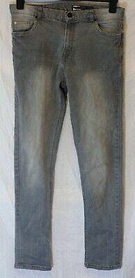 Boys Very Light Grey Denim Classic Straight Leg Skinny Fit Jeans Age 15 Years