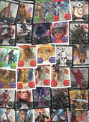 Lot 68 Star Wars trade cards 4x6cm ( few duplicates included )