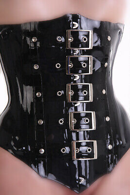 Latex Rubber Corset with Buckle