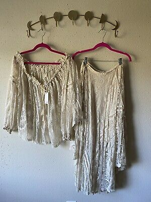 spell and the gypsy collective rhiannon lace Top+skirt Set Size S/m