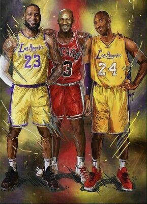 KOBE BRYANT, JORDAN, AND JAMES TRIBUTE POSTER, size 24x36
