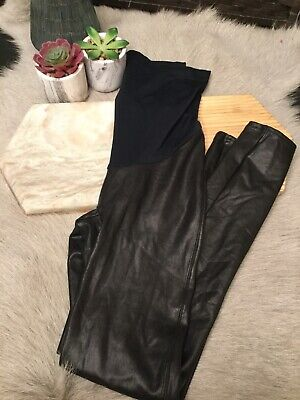 Spanx Mama Faux Leather Legging: Size M: Black #20201R (49)