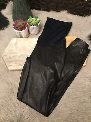 Spanx Mama Faux Leather Legging: Size L: Black #20201R (49)