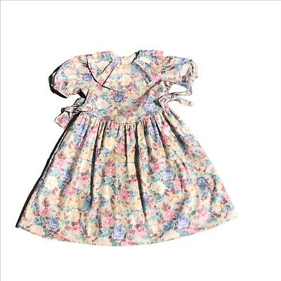 Ceil Ainsworth New York VINTAGE floral Girl's Dress 4t made in USA