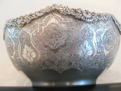 RARE High quality solid silver Persian bowl 148 g with hallmark