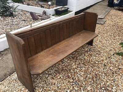 Lovely Vintage Victorian Pine Church Pew Bench Hallway Seat Table Bench