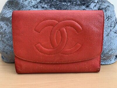 Genuine Chanel Authentic Red Leather Purse