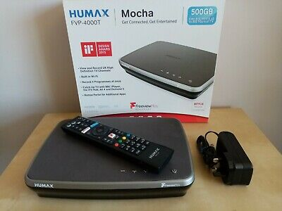 Humax FVP-4000T 500GB Freeview Play Smart wi-fi TV Recorder, with Netflix etc