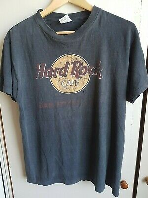 Hard Rock Cafe San Francisco Large Tee T Shirt Black Short Sleeve USA Black Men