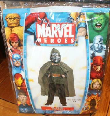 Brand New Marvel Heroes Dr. Doom Child Costume Sz 4-6 By Disguise