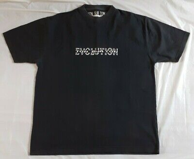 "Ton Sur Ton ""Evolution"" Vintage Mens Black T Shirt Size M"