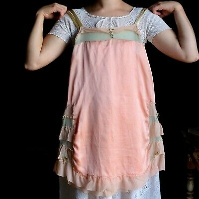 Vintage 1920s Silk Charmeuse and Chiffon Chemise Lingerie 34 Bust