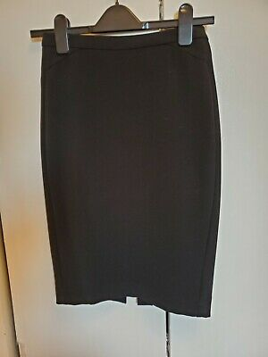 LK Bennett Black Fitted Stretch Pencil Skirt Knee Length  US 0-2 UK  6 ($275)