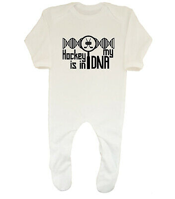 Hockey is in my DNA Baby Grow Sleepsuit Boys Girls
