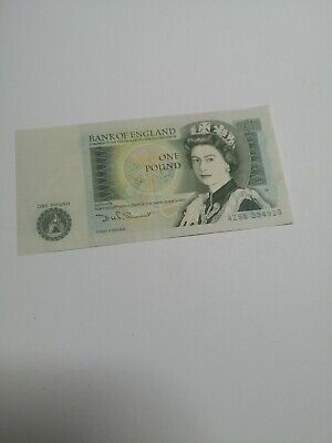 Highly Collectable Bank Of England One 1 Pound Bank Note Somerset First Run Az58