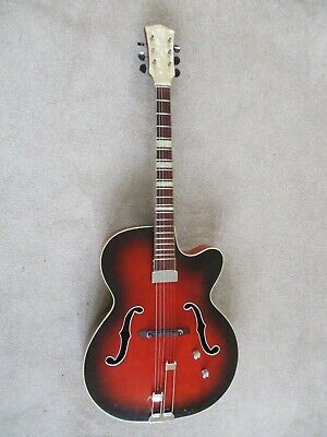 Guitar:Vintage 1950s:Archtop:Electro-acoustic:Good condition.