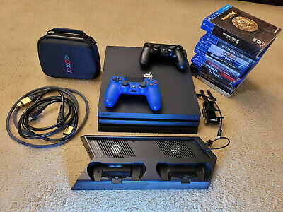 Sony PlayStation 4 Pro 1TB 4K Console With 2 Controllers Games Cables and EXTRAS