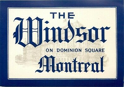 MINT COND 1955 Ritz Carlton Hotel ~MONTREAL CANADA~ Huge Old Luggage Label c