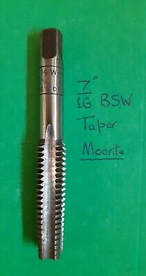 """7//16/"""" BSW WHIT WHITWORTH SECOND TAP ~ 7//16 X 14 TPI ~ GOLIATH HSS ~ BRITISH MADE"""