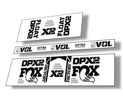 FOX Float DPX2 2021 Rear Shock Suspension Sticker Factory Decal Adhesive Pink