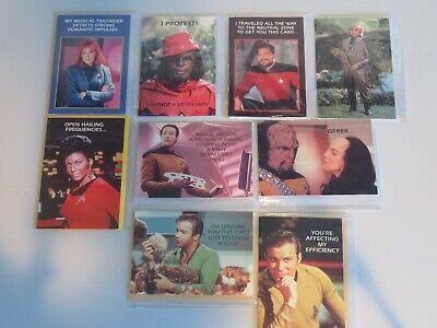 Star Trek - Greeting Cards - Lot of 9