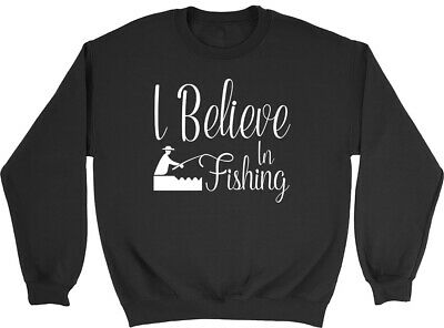 I Believe in Fishing Kids Childrens Jumper Sweatshirt Boys Girls