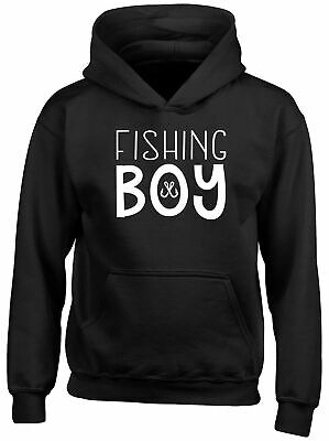 Fishing Boy Childrens Kids Hooded Top Hoodie Boys Girls