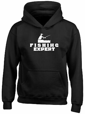 Expert Fishing Childrens Kids Hooded Top Hoodie Boys Girls