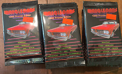 Muscle Cars 1992 Trading Cards 28 Packs Unopened Premier Edition