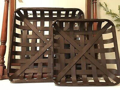 Rustic White Wash TOBACCO BASKET ~Small Basket Only ~ Farmhouse Chic Decor!