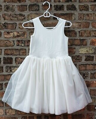 Hanna Andersson Girls Tulle Tank Floaty Ruffle Tutu Dress Rainbow 140 Size 10