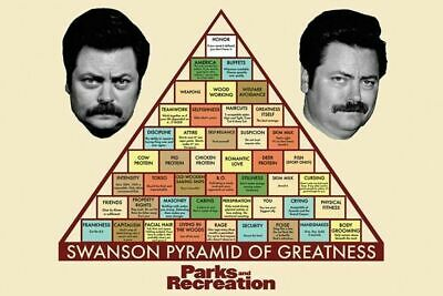 PARKS AND RECREATION - SWANSON PYRAMID OF GREATNESS POSTER 24x36 TV