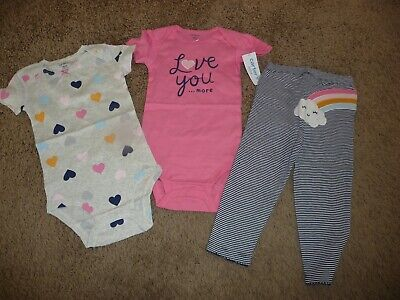 Girls Legging Set Love Sunshine  2 Piece NWT 9 Months or 18 Months Carters