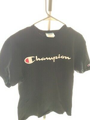 Champion T-Shirt Men YC Tee Script Logo Soft Vintage Short Sleeve 2 Color Ribbed