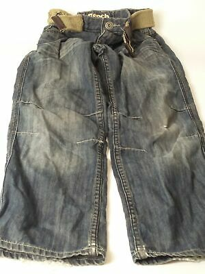 Boys Bench Blue Mid Wash Adjustable Waist Belted Denim Jeans Age 10 Years