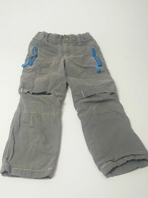 Boys Mini Boden Grey & Blue Lined Chino  Adjustable Waist Jeans Age 5 Years