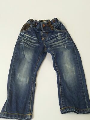 Boys Next Blue Mid Wash Adjustable Waist Denim Jeans Age 12-18 Months