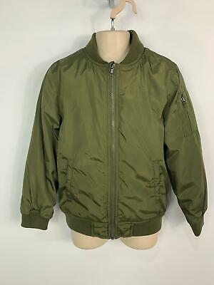 Boys Rebel Khaki Green Casual Light Weight Coat Bomber Jacket Kids Age 8/9 Years