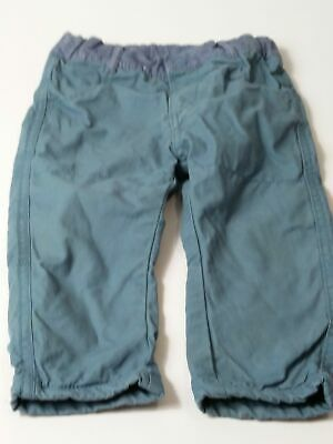 Boys Marks & Spencer Blue Adjustable Waist Jeans Chino Trousers Age 12-18 Months