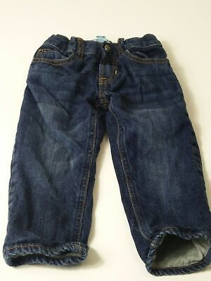 Boys Baby Gap Blue Mid Wash Adjustable Waist Padded Denim Jeans Age 2 Years
