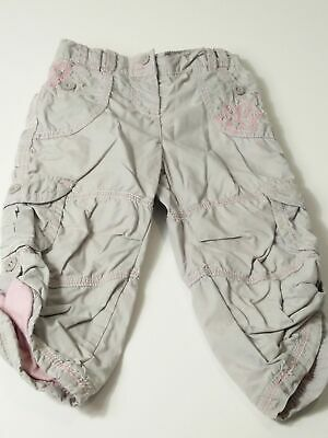 Girls Next Grey & Pink Elasticated Waist Cargo Jeans Trousers Age 12-18 Months
